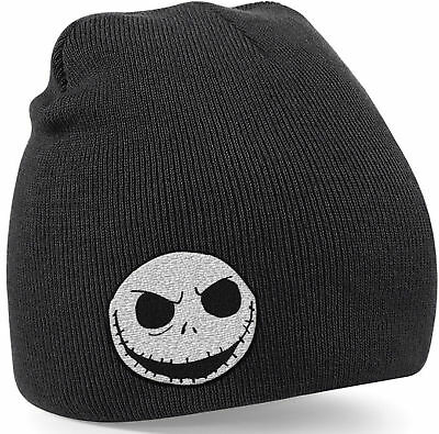 THE NIGHTMARE BEFORE CHRISTMAS Jack Skellington Skull BEANIE MÜTZE SKI HAT