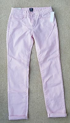 GAP Girls Pink 12 Years Silver Metallic Fleck 96% Cotton Skinny Jeans Trousers