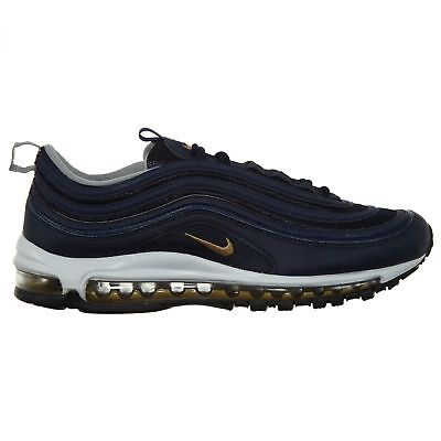 huge selection of a94f6 a40e8 Nike Air Max 97 Midnight Run Mens 921826-400 Navy Gold Running Shoes Size 13