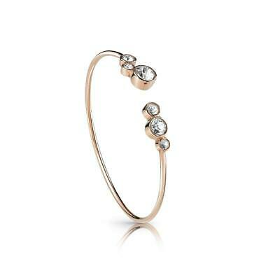 Guess All Around Guess Rose Gold Plated Flexi Ladies Bangle UBB28138-L