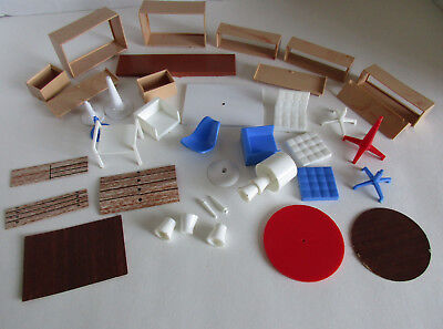 Vintage 1964 Irwin Interior Decorator Dollhouse ~ Furniture Parts & Pieces ~