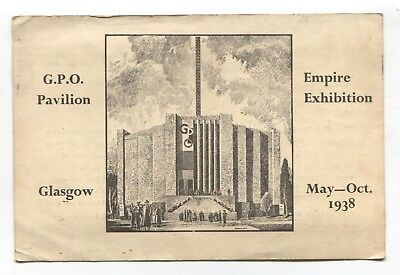 Empire Exhbition, Glasgow 1938 - GPO Pavilion - old souvenir information card