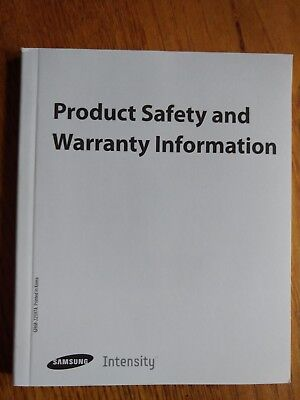 Samsung Intensity Product Safety and Warranty Information Guide English Spanish
