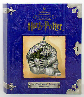 2001 HAGRID AND NORBERT THE DRAGON Harry Potter NEW Hallmark Ornament Pewter
