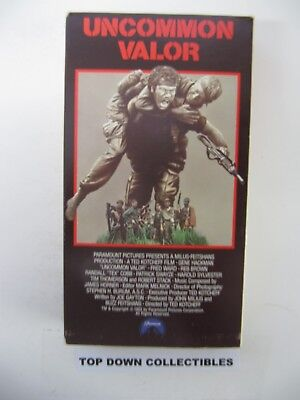 Uncommon Valor,  Patrick Swayze, Robert Stack, Fred Ward  VHS Movie
