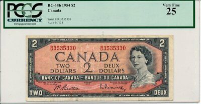 Bank of Canada Canada  $2 1954  PMG  25