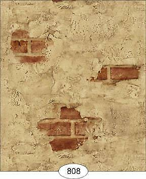 Miniature Dollhouse Wallpaper 1:12 Scale Weathered Plaster - Red - 0808