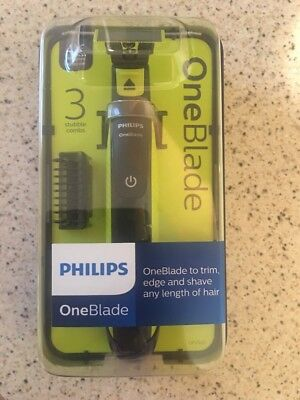 Philips Oneblade + 3 Stubble Combs One 1 Blade To Trim Edge And Shave.