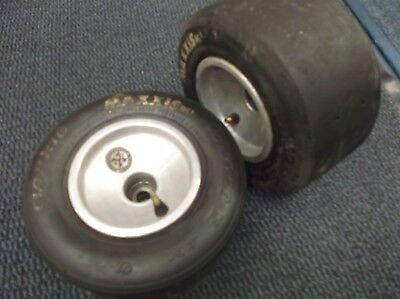go kart classic/historic 100cc pair of ali front 120mm wheels and tyres