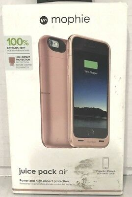 mophie Juice Pack air - Slim Mobile Battery Pack Case for iPhone 6/6s Rose Gold