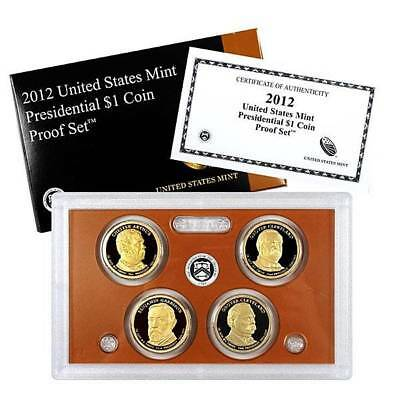 2012 S Presidential Dollar Proof 4 Coin Set United States Mint