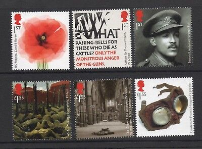 Gb 2018 First World War 1918 Stamp Set