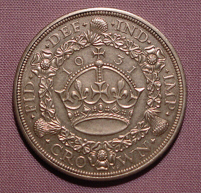 1931 King George V Silver Wreath Crown - Scarce Low Issue