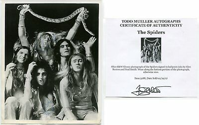 Alice Cooper original band signed 8x10 Glen Buxton & Neal Smith with COA A042