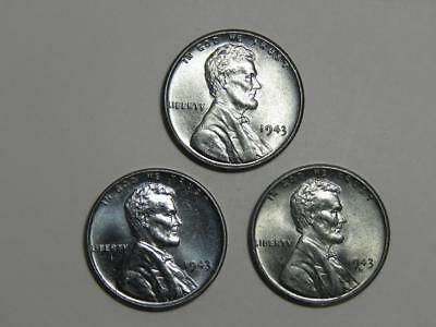 1943 Lincoln Steel Wheat Cents Year Set - PDS