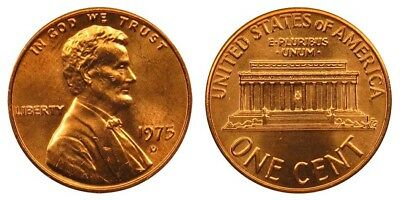 1975 D Lincoln Memorial Cent Uncirculated BU