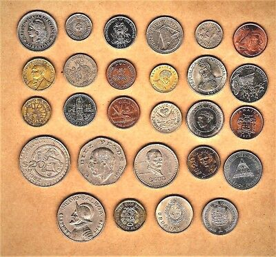 South/Central America w/Caribbean 25+ coin lot w/ 1901 and up