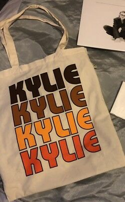 MEGA RARE Kylie Minogue Golden VIP Only Tote Bag ~ Not For Sale Anywhere