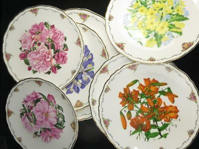 Limited Edition Plate QUEEN MOTHERS FAVOURITE FLOWERS Royal Albert 1990 SELECT