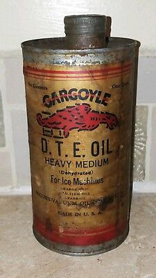 Early Gargoyle Socony Vacuum Quart Oil Can Rare Old Can