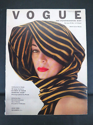 Vintage 1951 Vogue July Issue Clifford Coffin Cover Irving Penn Photos Magazine
