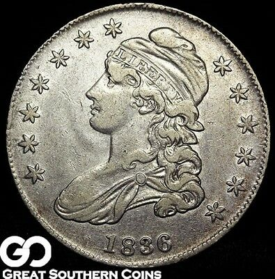 1836 Capped Bust Half Dollar, Sought After Silver Half Dollar Series