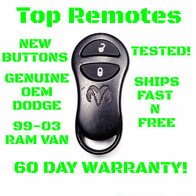 56045191 GQ43VT9T Dodge Ram Van Remote Key Fob 1999 2000 2001 2002 Genuine OEM