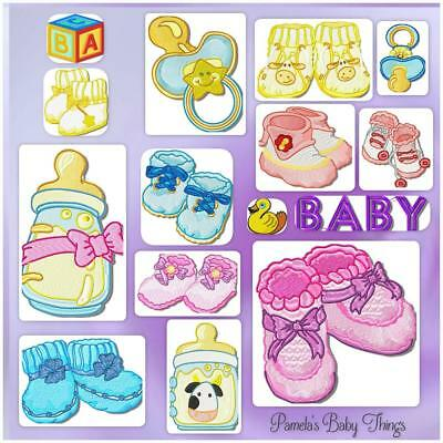 Pamela's Baby Designs Includes 2 Free Alphabets! Machine Embroidery Cd