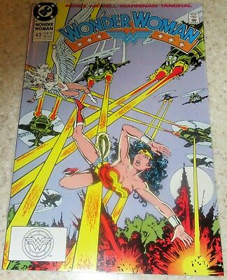 Wonder Woman 43, (NM- 9.2) 1990, 30% off Guide!