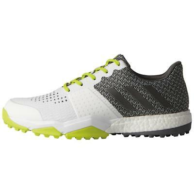 Adidas Adipower Sport Boost 3 Mens Golf Shoes - White/Silver/Yellow - Pick Size