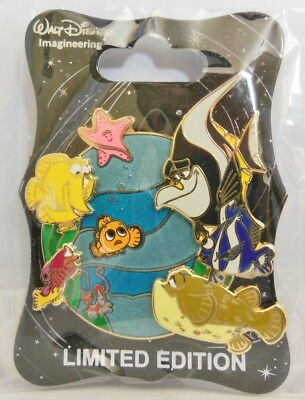 Disney WDI ~ Finding Nemo D23 Event Nemo and the Tank Gang LE 250 Pin Sold Out!