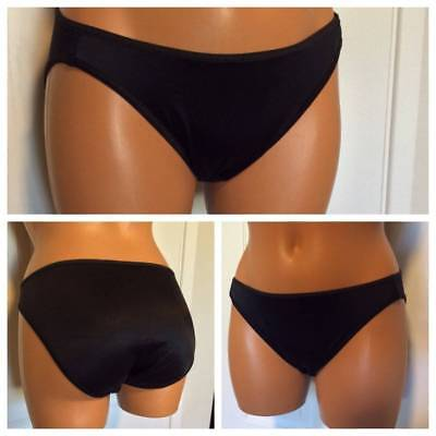 Vtg Vassarette Black Nylon High-Leg Brief Panties Sz 6