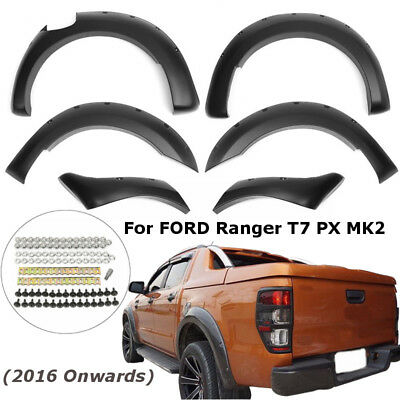6X Wheel Cover Flares Fender For Ford Ranger T7 2016 Onwards/ Wildtrak 2016-2017