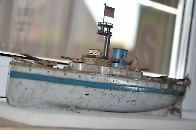 URALT ANTIQUE  GFN  FLEISCHMANN Battle Ship  from 1910 100% natural condition