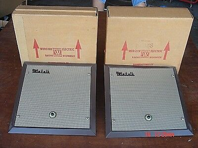Vintage NOS 1960s Art Deco Steampunk WEBSTER ELECTRIC TELETALK 5K45S SPEAKERS