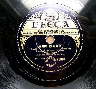 1447/ ELLA FITZGERALD-LOUIS ARMSTRONG-OOPS!-A guy is a guy-SWING-78rpm Schellack