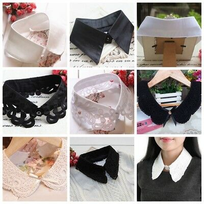 Women Lapel Shirt Collar Detachable Peter Pan Collar Necklace False Collar USA