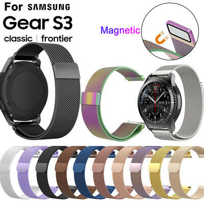 22mm Magnetic Milanese Stainless Steel Strap Watch Band for Samsung Gear S3 HQ