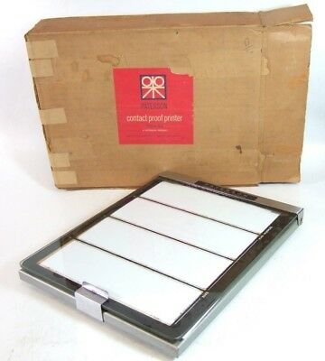 Boxed PATERSON 120 film 6x6 6x9 etc. CONTACT PRINTER Metal Made Best! Good foam!