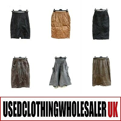 20 Women's Vintage Real Leather Skirts Glam Rock Wholesale Clothing Fashion