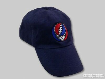 New Authentic Embroidered Grateful Dead Steal Your Face Soft Baseball Hat Cap