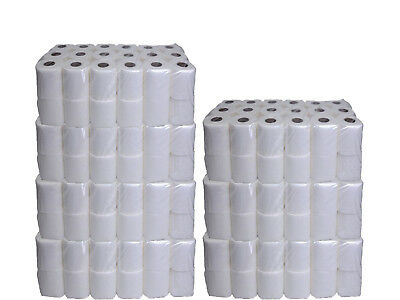 2ply Toilet Tissue Quilted Paper Roll Jumbo Pack of 36/72/108/144 Joblot UK