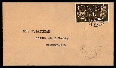 Umberleich Oct 6 1949 Single Franked Cover To Barnstaple