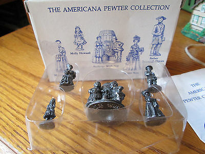 Liberty Falls AH71  Ausbergs With Keg 5 Pc Pewter Set 1995 With Box