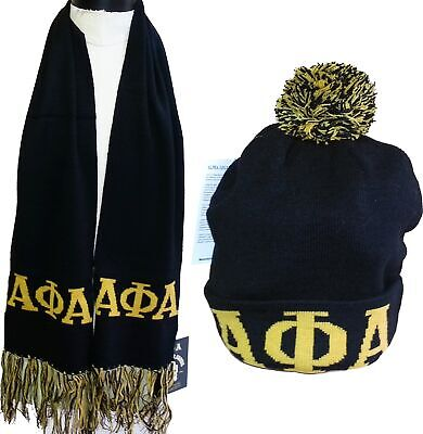 ... Buffalo Dallas Zeta Phi Beta Ladies Knit Beanie Skull Cap /& 2-Ply Scarf Set