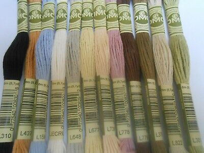 DMC Linen Threads 100% Linen 12 Skeins 8m (8.7 Yards)