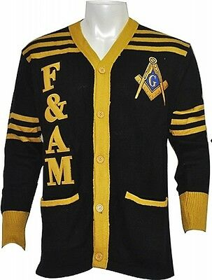 2a3bd6f7aee6 Buffalo Dallas Prince Hall Mason F AM Mens Cardigan Sweater