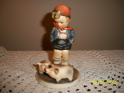 Vtg Hummel Figurine Made in Germany Boy with Pigs Piggy's