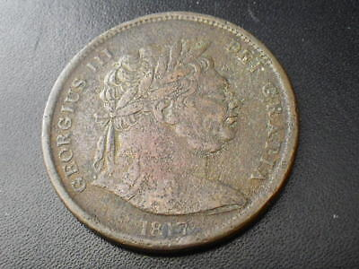 George III 1817 Half Crown In Copper (Fine-gFine) Good Example  ....E639