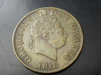 George III 1818 Half Crown In Copper (VF) Good Example  ....E639